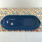 Fiestaware Lapis Relish Tray Fiesta Blue Retired Corn on the Cob Tray