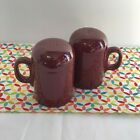 Fiestaware Cinnabar Rangetop Salt and Pepper Shakers Fiesta Retired Range Top