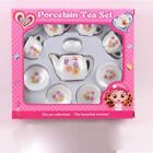 Tea Party Set Pretend Play Girl Toy Kid Picnic Basket Porcelain Cup Gift