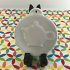 Fiestaware White Embossed Teapot Ornament HLCCA Fiesta Holiday Christmas