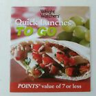 Weight Watchers Quick Lunches To Go Points Value of 7 Or Less