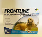 Frontline Plus For Dogs 23 44 lbs 3 Doses Free Shipping New Sealed