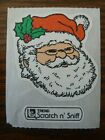 Vintage Scratch and Sniff Sticker Large TREND Christmas EVERGREEN Santa Claus