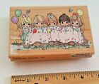 Precious Moments PARTY BANNER Rubber Stamp CELEBRATION Balloons