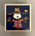 Scarecrow Snoopy  Woodstock Peanuts Wooden Rubber Stamp 2001 Stampabilities FUN