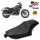 Driver Rear Passenger Seat Two up for Harley Sportster Custom XL1200C 04 16 JH2