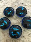 5 piece ROUND BLUE  BLACK  glass lamp work 30mm Beads DIY Jewelry making