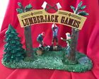 LEMAX Village Table Accent - LUMBERJACK GAMES -//NIB//  Retired