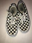 Vans Black And White Checkerboard Tie Shoes Size 75 M 9 W   SS6
