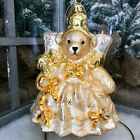 Radko 2006 MUFFY TWINKLE FAIRY GOLD VanderBear Glass Christmas Ornament 1012641