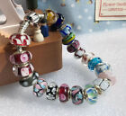 Limit Stock silver big hole Murano Glass Beads fit European Charms Bracelet New
