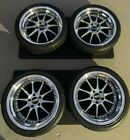 RARE Discontinued JDM 18 Blitz Technospeed Z1 Wheels Wide Stepped Lip SC430 FRS