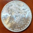 1884 o MS BU++ BRIGHT ICY WHITE WOW GORGEOUS MORGAN SILVER DOLLAR FROM ROLL