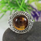 Beautiful Genuine Lithuanian Baltic Amber Ring Handmade Jewelry Ring D20