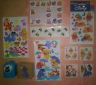 Disney Winnie the Pooh paper punch Eeyore rubber stamp stickers prismatic fuzzy