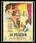 LE PLAISIR Max Ophuls 4x6 ft Vintage French Grande Movie Poster 1952