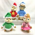 Chipmunks Alvin Simon Theodore Ty Beanie Babies Holiday 2011 Lot + Brittany