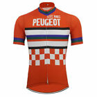 Retro Team AVC NIMES PEUGEOT Vintage Cycling Jersey cycling Short Sleeve Jersey