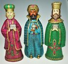 3 Wise Men Figurines 11 Christmas Nativity Magi Kings Vtg Japan Holiday