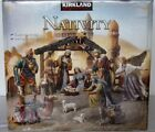 Rare 12 Figure Kirkland Hand Painted Antique Style Creche De Noel Nativity Set