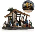 Christmas Resin Nativity Set Scene Figures Resin Figurines Baby Jesus Manger Set