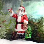 Santa with Cardinal Christmas Ornament Tree Decoration