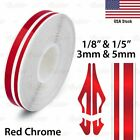 Red Chrome Roll Vinyl Pinstriping Pin Stripe Car Motorcycle Tape Decal Stickers
