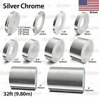 SILVER CHROME Vinyl Pinstriping Pin Stripe Car Motorcycle Tape Decal Stickers