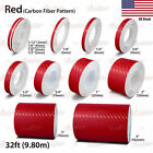 CARBON FIBER RED Vinyl Pinstriping Pin Stripe Car Motorcycle Tape Decal Stickers
