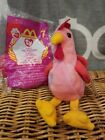 TY Beanie Baby Strut Rooster 1996 PVC Pellets and TY Teenie Beanie Baby Strut