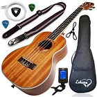 Ukulele Tenor Size Bundle By Lohanu LU T All Accessories Included  2 Strap Pins