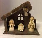 Vintage MCM 1960s Christmas 5 Piece Nativity Set Made In Japan Very Unique
