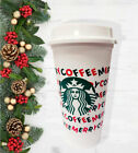 Starbucks 2019 Reusable Holiday Hot Cold Cup 16oz Merry Coffee NEW