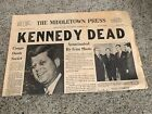The Middletown Press John F Kennedy Dead November 22, 1963 CT Used