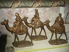 Rare Wise Men Christmas Nativity Statues 3 Kings with Gifts On Camels 17 18