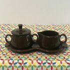 Fiestaware Chocolate Cream and Sugar Set Fiesta Retired Brown Coffee Tea 4 Piece