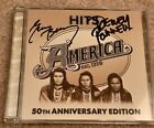 America Hits 50th Anniversary Edition CD Signed By Dewey Bunnell