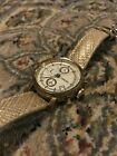 Pre-owned Fossil Women's White Face Gold Watch OS