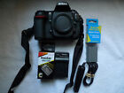 Nikon D D300 123MP Digital SLR Camera Black Body Only with extras