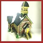 Lemax Christmas Village Carole Towne School House 2002 -Snow Wreath Tower RARE