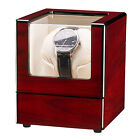 Single Automatic Rotation Wood Watch Winder Storage Display Case Box Red