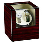 Double Automatic Rotation Wood Watch Winder Storage Display Case Box Red