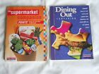 2 bks FREE SHIPP vintage the supermarket  Dining Out Companion weight watchers