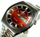 FORTIS BRAIN MATIC SWISS MADE AUTOMATIC BIG 40MM MENS VINTAGE ALARM RARE WATCH