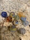 MIXED COLOR Round HAND Blown hollow lampwork glass 10 BEADS  approx 12mm