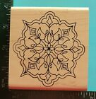 FLORAL MEDALLION Rubber Stamp by Holly Berry House