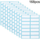 168Pcs Self adhesive Labels Blank Name Number Sticker Student Office Stationery