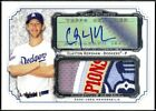 Clayton Kershaw 2012 Topps Museum Collection Momentous Material Jumbo Relic auto