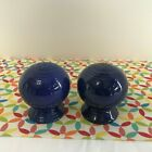 Vintage Fiestaware Cobalt Salt and Pepper Shakers Fiesta Blue  Ball Shaker Set