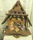 Vintage Wall Hanging Musical Nativity Scene ITALY Plays Silent Night EXVC